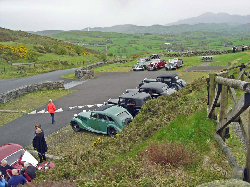 Rileys on the Road day, April 2019, Slieve Croob viewpoint